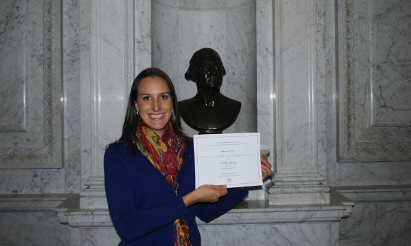 Feeling certified and celebrated at the Library of Congress.