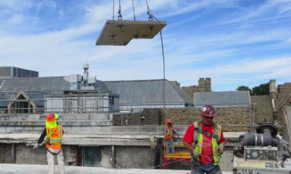 rubenstein library roof removal