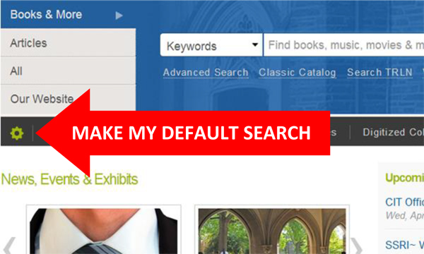 Make My Default Search