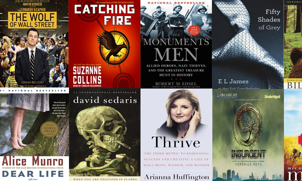 Just a sampling of the hundreds of popular titles you can now download as eBooks or audiobooks and enjoy on your own device. Click on the image to get started.