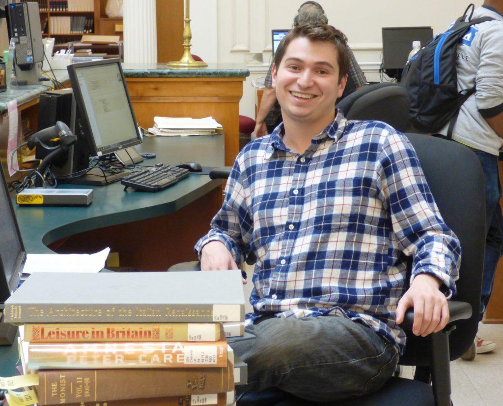 Steven at desk
