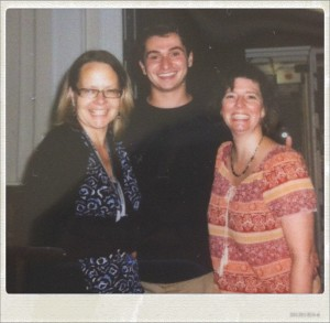 Steven with librarians