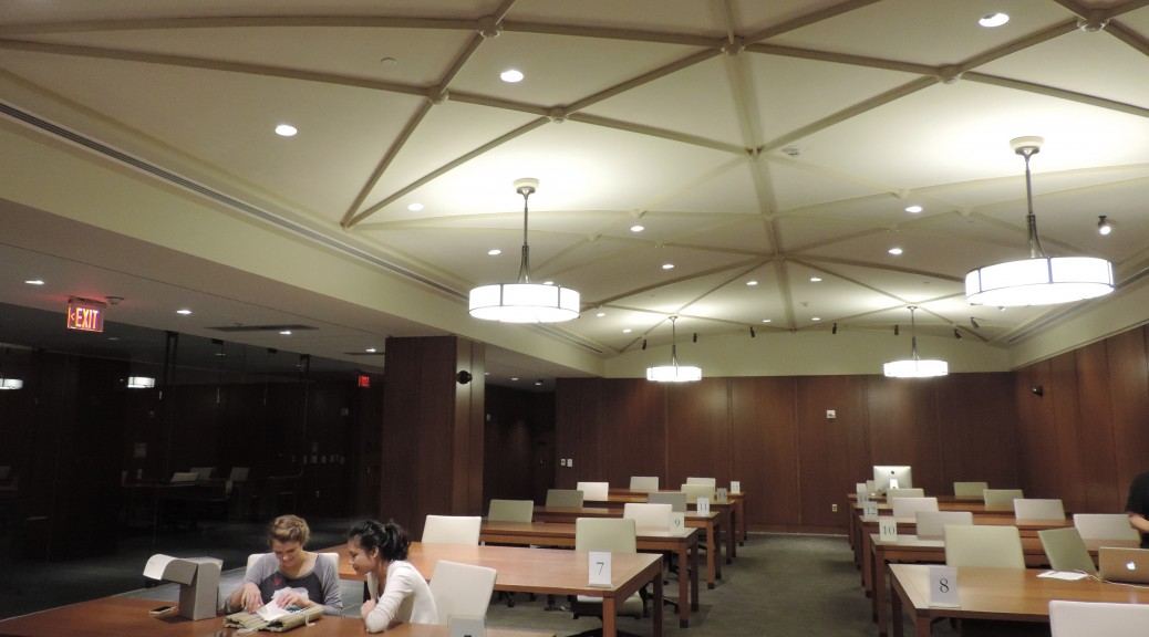 Students in Rubenstein Reading Room