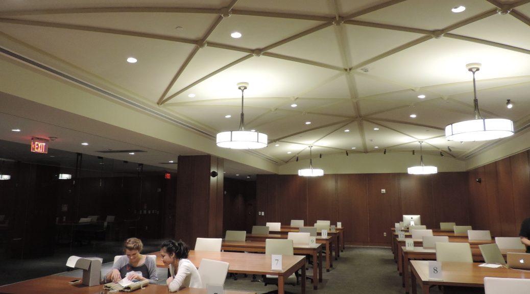 Students in Rubenstein Reading Room