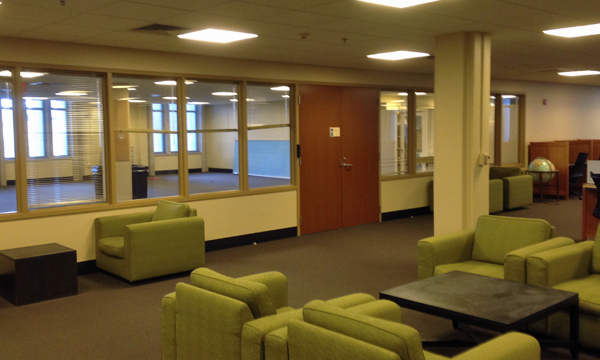 The former home of Data and Visualization Services on the 2nd floor of Perkins Library is being transformed into a dedicated Dissertation Reading and Writing Lab for Duke graduate students.