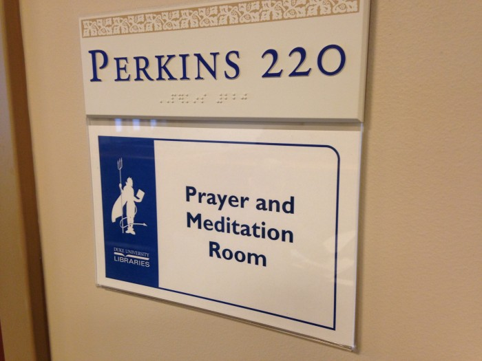 Members of all faiths are welcome to use the new Prayer and Meditation Room in the library.