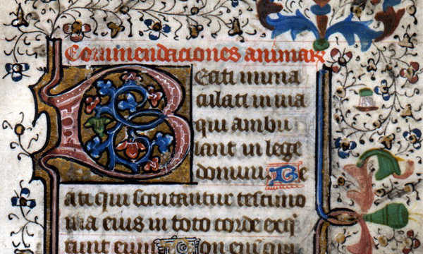 Detail from Latin MS No. 8, David M. Rubenstein Rare Book & Manuscript Library