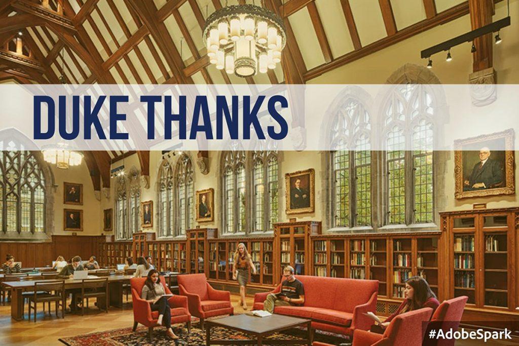 duke university library thesis Duke university supports open access through a available via a duke university libraries theses & dissertations the duke university graduate.