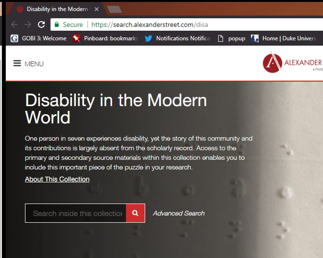 Disability in the Modern World