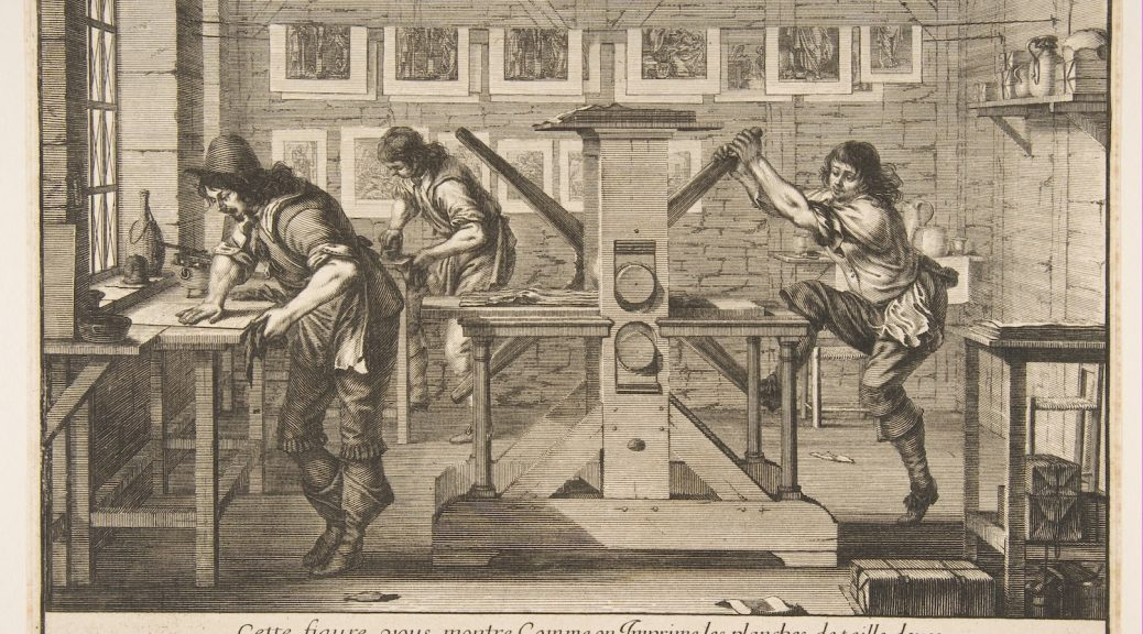 'The Intaglio Printers' by Abraham Bosse (1642).