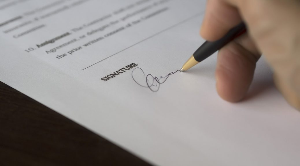 Communicate the role of the author agreement as a contract