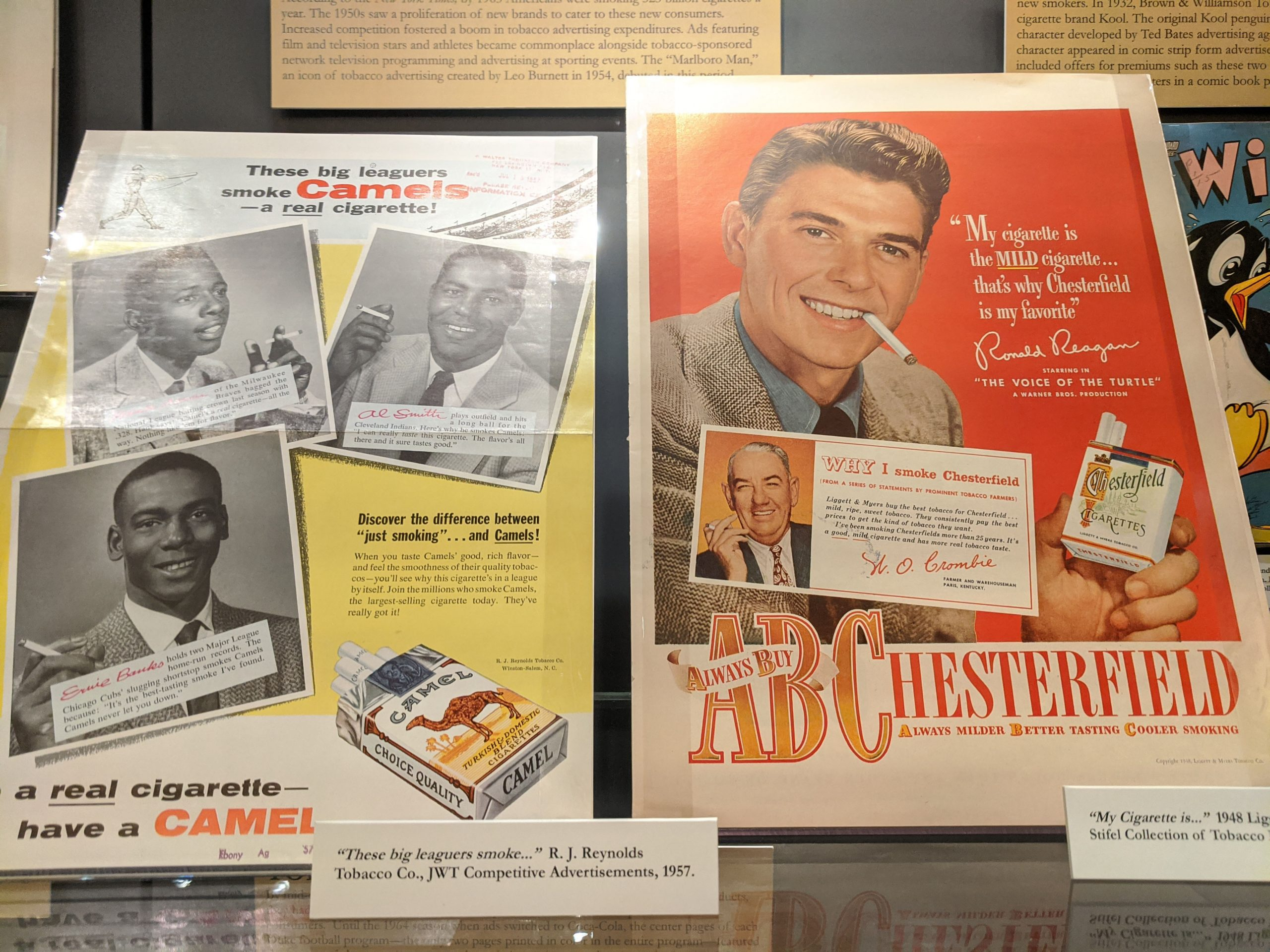 Image of 1950s tobacco advertisements